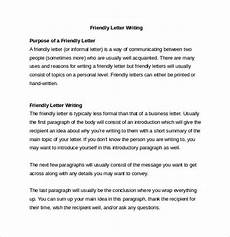 Example Of A Short Friendly Letter Free 13 Friendly Letter Templates Amp Samples In Ms Word Pdf