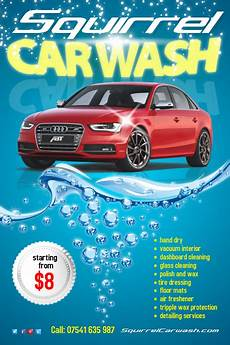 Car Wash Pictures For Flyer Squirrel Carwash Flyer Ii Template Postermywall