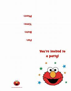 Free Invitations Elmo Free Printable Birthday Party Invitation Personalized