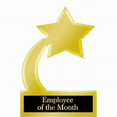 Employee Of The Month Award Employee Of The Month Gold Star Award Trophy Cutout