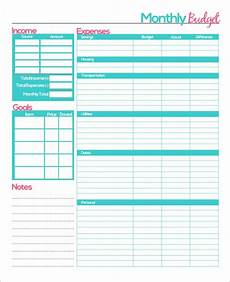 Sample Budget Planner Free Printable Monthly Budget Planner Template Monthly