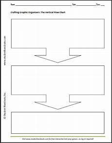Flow Chart Graphic Organizer Printable Free Printable Blank Vertical Flow Chart Student Handouts