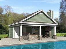 pool house plans pool house plan with outdoor living