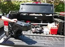 a clever truck bed storage system tools of the trade
