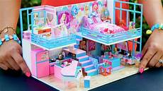Barbie Doll House With Lights 5 Diy Miniature Dollhouse Rooms Barbie Youtube