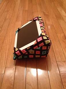 black with multi colored squares iwedge pillow