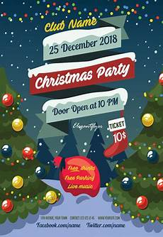 Christmas Flyer Templates Free Psd Flyer For Christmas Tree Party By Elegantflyer