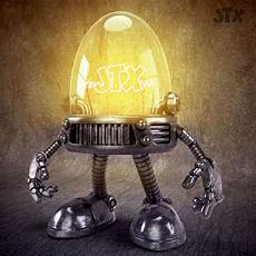 Light Robot Little Robot Light Bulb Jonatronix 3d Illustration