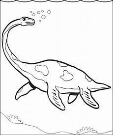 printable plesiosaur dinosaur coloring page for