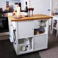 wheeled kitchen island ikea kitchen hacks popsugar
