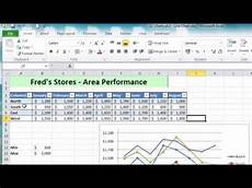 Microsoft Excel 2010 Chart Wizard Excel 2010 Tutorial For Beginners 14 Charts Pt 5