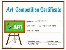 Certificate For Competition Education Certificates Art Competition Certificate Art