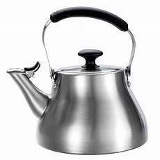 Izoom Ready Light Maxiaids Classic Whistling Tea Kettle Brushed Stainless
