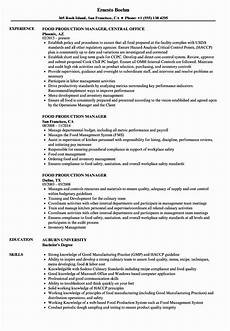 Resume For Food Industry Production Assistant Job Description Resume Inspirational