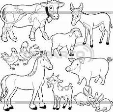 Farm Animal Outlines Animals High Quality Stock Vector Clipart Image