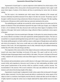 Examples Of A Research Essay Help With Writing An Argumentative Research Paper
