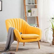 yellow upholstered accent armchair tub chair living room