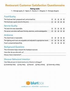 Restaurant Surveys Examples Restaurant Survey Template Cnbam