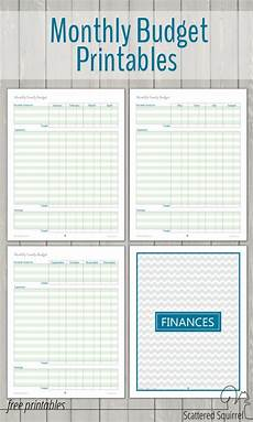 Printable Budget Calendar Monthly Family Budget Printables