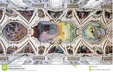 palermo modern fresco of last judgment on ceiling of