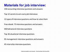 Interview Questions Accounting Accounting Intern Interview Questions