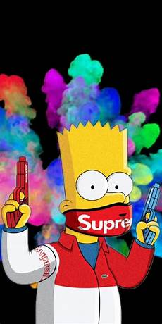 simpsons wallpaper supreme pin on wallpaper