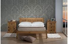 bed 4ft 6 wooden mexican solid pine bedframe