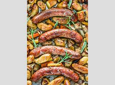 Baked Sausages with Apples Sheet Pan Dinner   Jo Cooks