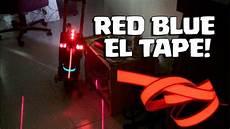 Red Tape Over Light Red Blue Cross El Tape Tron Lights Self Balancing