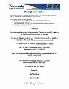 Sample Invitation For A Meeting By Email Official Meeting Invitation Email Templates At