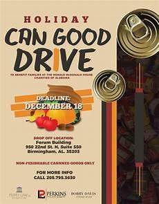 Can Food Drive Flyer Ronald Mcdonald House Charities Of Alabama