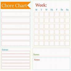Chore Template Chore Chart Checklist Template Kleinworth Amp Co