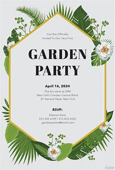Garden Party Invites Free Garden Party Invitation Template In Microsoft Word