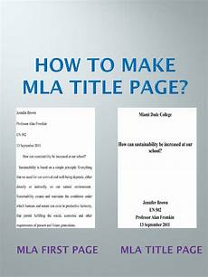 Mla Title Page Format Mla Title Page Step By Step