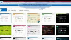 Sharepoint Online Template Sharepoint 2013 Tutorial How To Change The Site Theme In