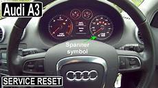 Audi A3 Oil Light Reset Audi A3 Service Light Reset Oil Youtube