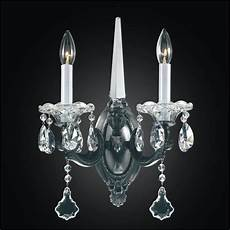 Crystal Sconce Lights Old World Sconces 2 Light Crystal Wall Sconce 546a