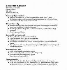 High School Job Resume Sample Free 6 Sample High School Resume Templates In Pdf Ms Word