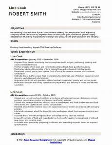 Cook Resume Line Cook Resume Samples Qwikresume