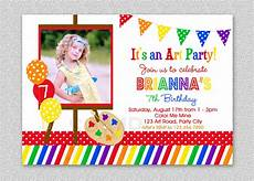 Party Invation Art Birthday Party Invitations For Your Kids Bagvania