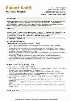 Accounts Assistant Cv Example Accountant Assistant Resume Samples Qwikresume