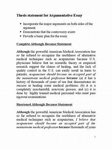 Purpose Of Thesis Statement In An Essay Thesis Statement For Argumentative Essay