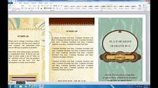 Make A Brochure On Word How To Make Brochure On Microsoft Word 2010 Youtube