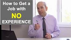 How To Get A Restaurant Job 3 Tips On How To Get A Job With No Experience Youtube
