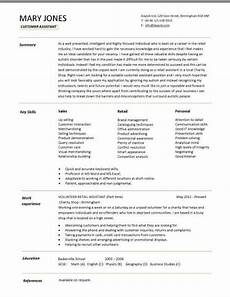 assistant cv sample a customer assistant cv example in a modern design best