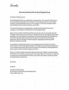 Recomandation Latter Recommendation Letter From Ceo