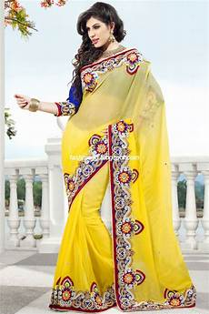fashion style indian sarees for wedding bridal wear