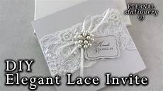 Lace Wedding Invitation Elegant Beaded Lace And Brooch Wedding Invitation Diy