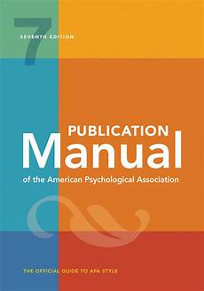 American Psychologica Association Publication Manual Of The American Psychological
