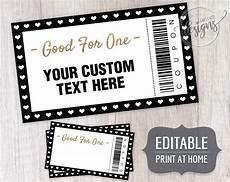Custom Coupon Maker Coupon Template Christmas Editable Coupons For Dads